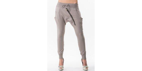 Dámske turecké nohavice v šedej farbe Sixie