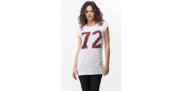 Dámske biele tričko s potlačou Sixie