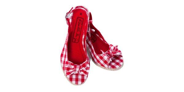 Dámske červeno kockované sandálky Rosalita McGee