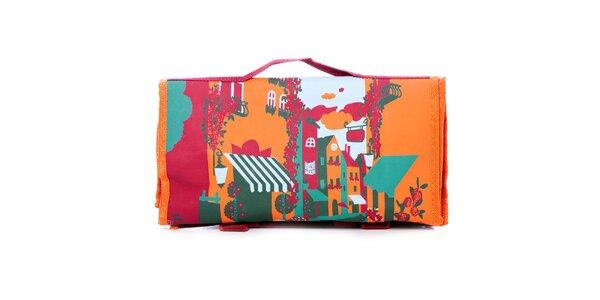Dámska oranžovo-zelená nákupná taška Rosalita McGee