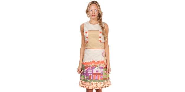 Dámske šaty s potlačou domčekov Rosalita McGee