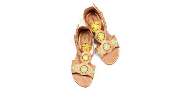 Dámske béžové sandálky Rosalita McGee