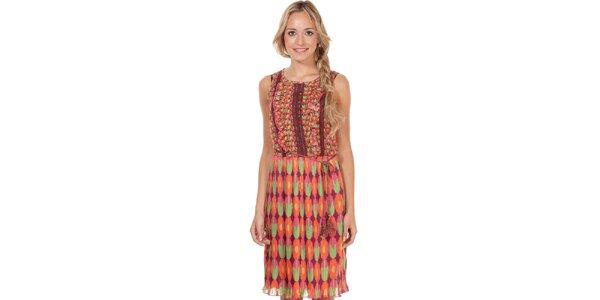 Dámske šaty s farebným kvetinovým vzorom Rosalita McGee