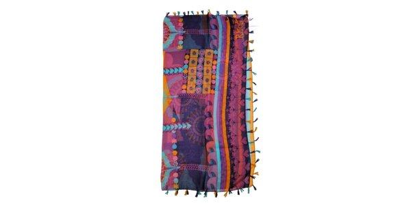 Dámska fialová vzorovaná šatka Rosalita McGee