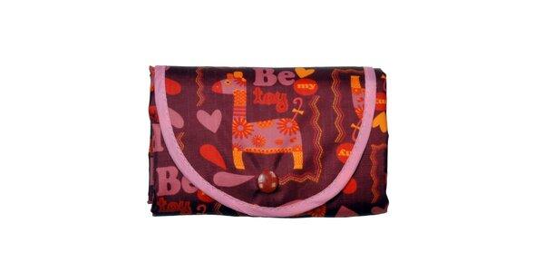 Dámska skladacia nákupná taška so žirafou Rosalita McGee