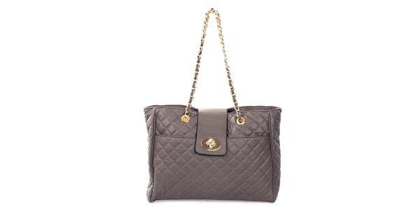 Dámska prešívaná kabelka v šedej farbe London Fashion