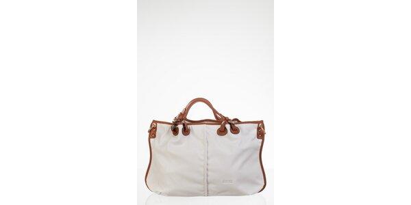 Biela priestranná kabelka