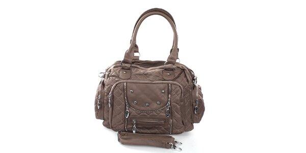 Dámska hnedá kabelka s prešívaním London Fashion