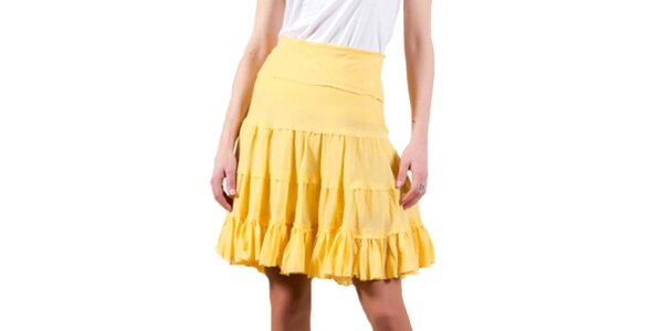 Dámska žltá sukňa Barbarella