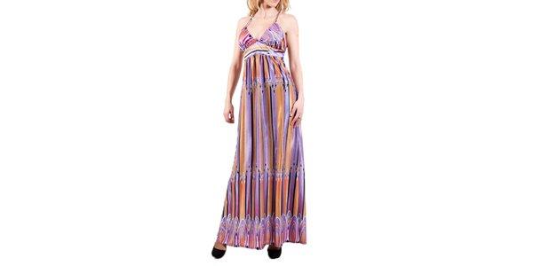 Dámske dlhé farebné šaty Barbarella