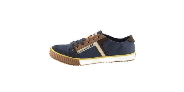 Pánske modré textilné topánky Diesel