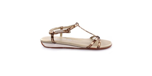 Dámske zlaté sandále DKNY Active