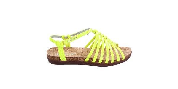 Dámske žiarivo žlté sandálky DKNY
