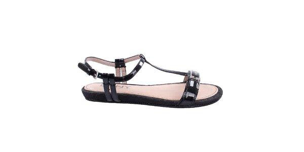 Dámske jemne vzorované sandálky DKNY