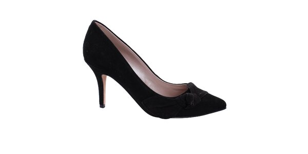 Dámske čierne semišové lodičky DKNY