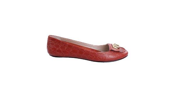 Dámske červené balerínky DKNY