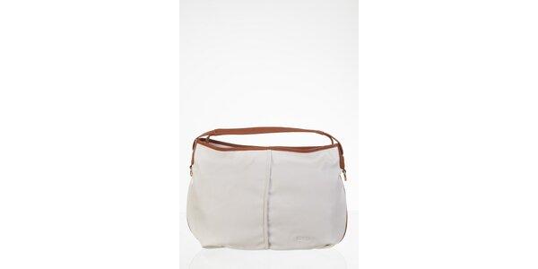 Jednoduchá biela kabelka