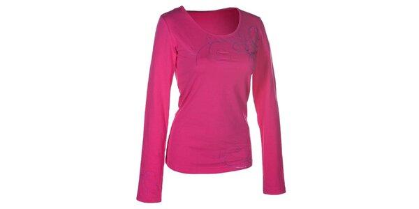 Dámske ružové tričko s dlhým rukávom Envy