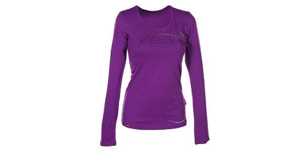 Dámske fialkové tričko s dlhým rukávom Envy