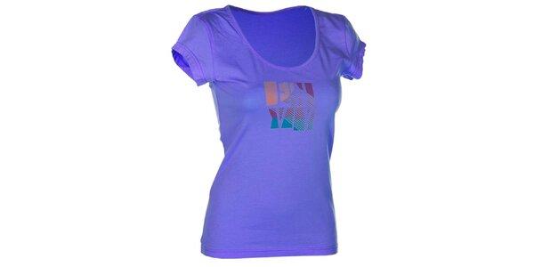Dámske modré bavlnené tričko s potlačou Envy