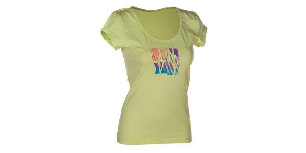 Dámske zelené bavlnené tričko s potlačou Envy