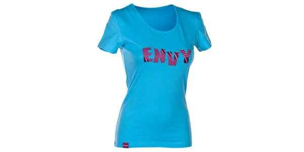 Dámske modré tričko s nápisom Envy
