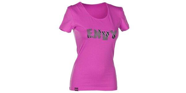 Dámske ružové tričko s nápisom Envy