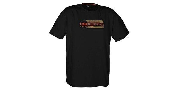 Pánske čierne tričko s potlačou loga Envy