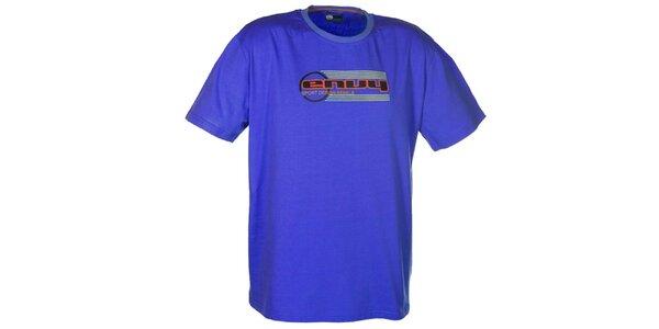 Pánske modré tričko s potlačou loga Envy