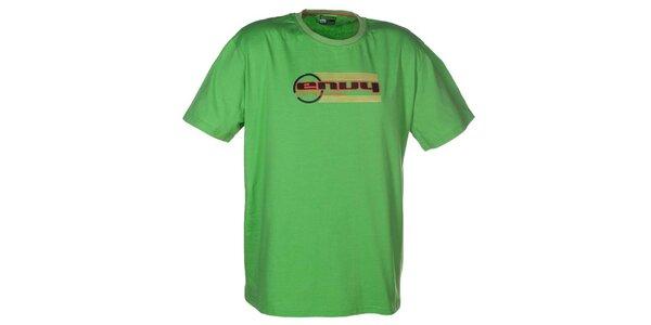 Pánske zelené tričko s potlačou loga Envy