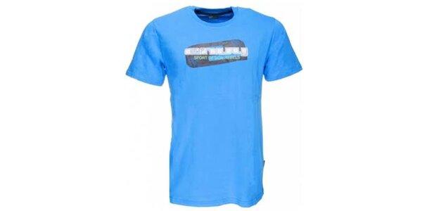 Pánske modré tričko s potlačou Envy