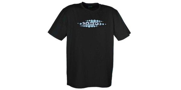 Pánske čierne tričko so svetlou potlačou Envy