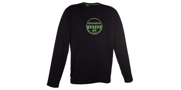 Pánske čierne tričko s dlhým rukávom Envy