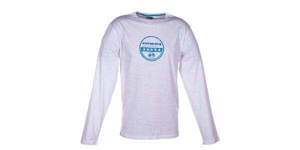 Pánske biele tričko s dlhým rukávom Envy