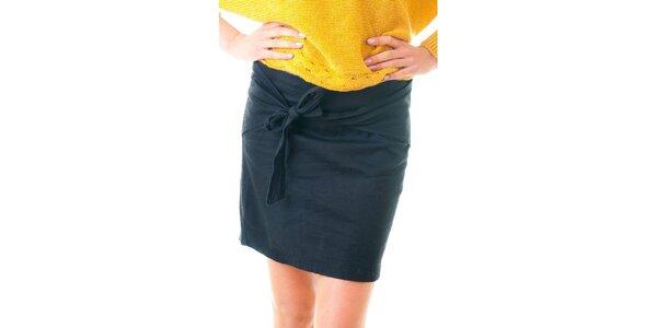 Dámska čierna sukňa so zaväzováním Goa Goa