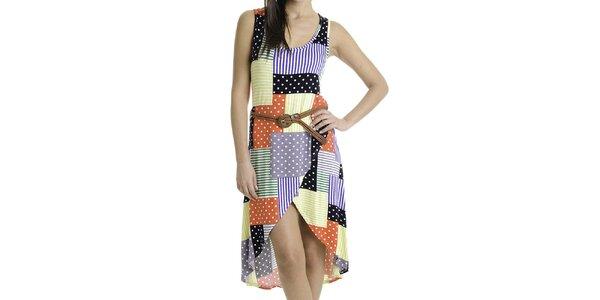 Dámske šaty s farebnými vzormi Goa Goa