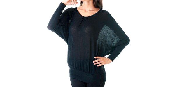 Dámsky čierny sveter s čipkovaným chrbátom Goa Goa