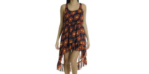 Dámske šaty bez rukávov s červenými kvetmi Goa Goa