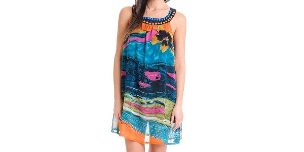 Dámske letné vzdušné farebné šaty Goa Goa