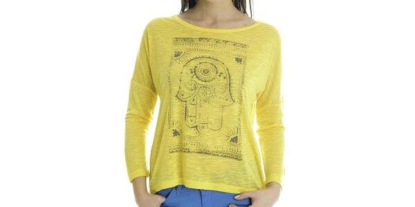 Dámske žlté tričko s dlhým rukávom Goa Goa