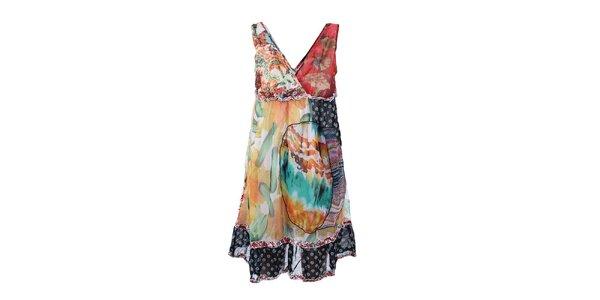 Dámske pestrofarebné šaty bez rukávov Dislay DY Design