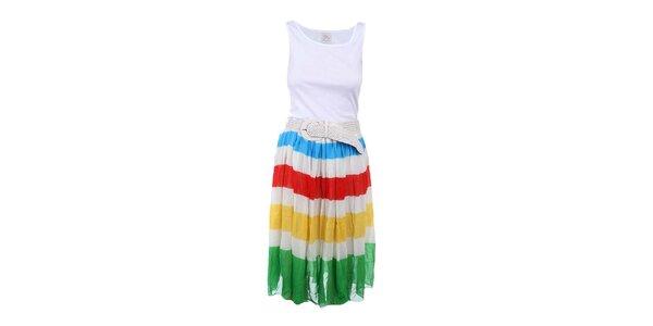 Dámske šaty s pruhovanou sukňou Dislay DY Design