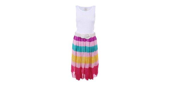 Dámske šaty s viacfarebnou sukňou Dislay DY Design