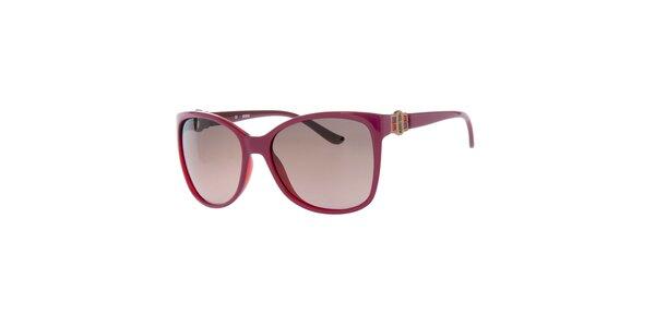 Dámske fuchsiové okuliare s hnedými sklíčkami Guess