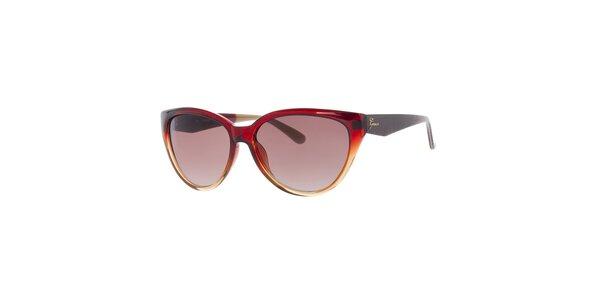 Dámske duhové červeno-žlté slnečné okuliare Guess