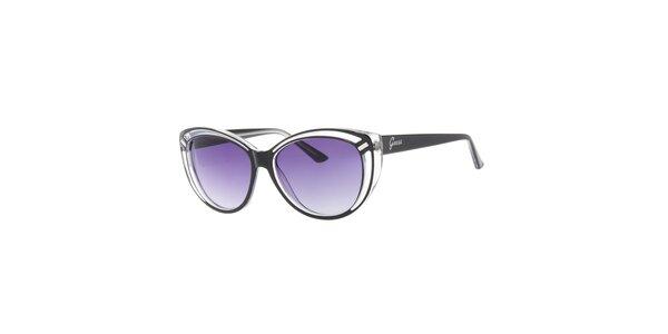 Dámske transparentné slnečné okuliare Guess s čiernymi stranicami