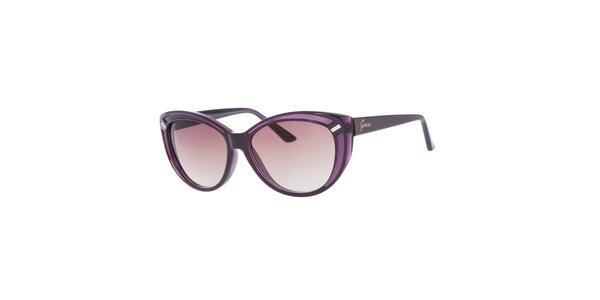 Dámske fialové slnečné okuliare Guess s čiernymi stranicami