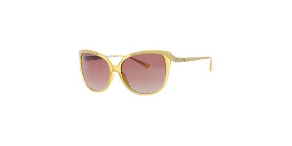 Dámske kanárikovo žlté slnečné okuliare Guess