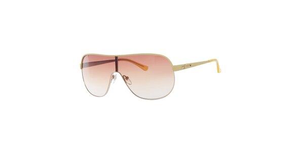 Dámske žlté slnečné okuliare Guess