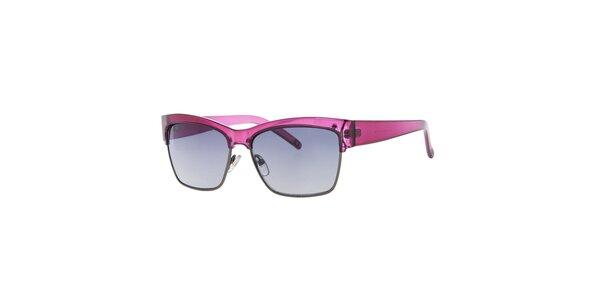 Dámske ružové hranaté slnečné okuliare Guess